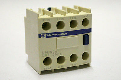 Telemecanique / Square D Tesys Auxiliary Contact Block LADN04 4NC 038390
