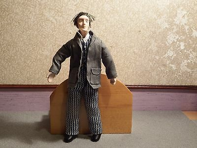 Dolls House old gentalman in suit  quality detailed figure 1.12th scale