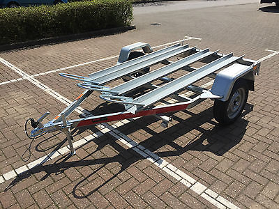 3 x Motorcycle Motorbike Trailer Tema Moto3 Three  Channel with Ramp 750kg