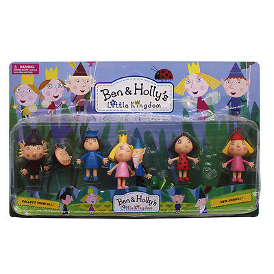 8pcs Ben and Holly's Little Kingdom Pendant Kids PVC Figure Toy Boxed