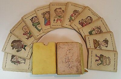 ANTIQUE PLAYING CARDS - JAQUES STENCIL COLOURED LITHOGRAPHY HAPPY FAMILIES c1880