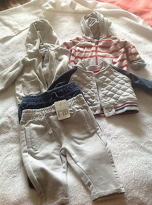 mothercare  and tu boys 0-3 outfit new with tags