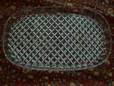 Antique Crystal Dressing Table  Tray