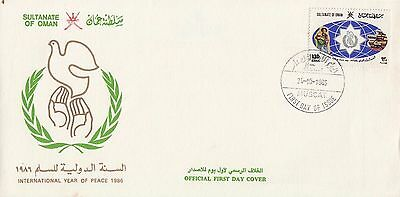 P 1953 Oman October 1986 Peace First Day Cover