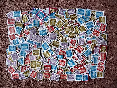 400 x GB 1st 2nd Class NVI Machin Blue Red Gold Lilac Security Used ex Kiloware
