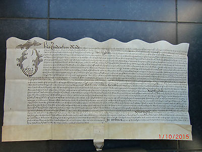 """""""1622""""  INDENTURE of FEOFFMENT.  John SCUDDER. to Wm. MORROW. SWANSCOMBE. KENT."""