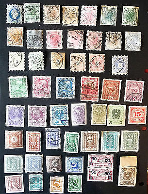 Austria Emperor Franz Joseph Mercury Coat Of Arms 1883 Old Early Stamps #1042