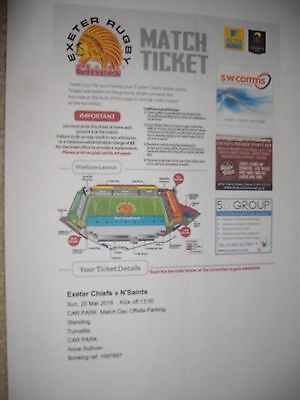 Exeter Chiefs Ticket V Northampton 2016