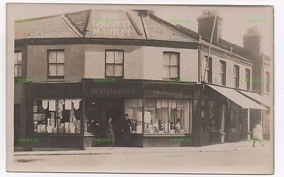 Postcard W H Hardy Drapers Shop Arkwright Street ? Nottingham ? Real Photo C1920