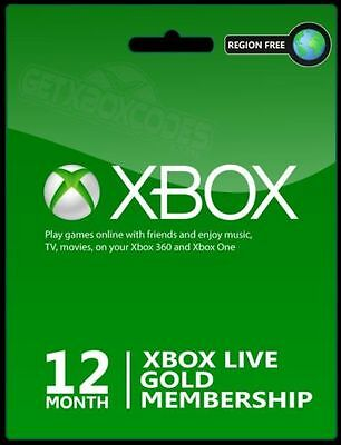 Xbox Live Gold 12 Month Code