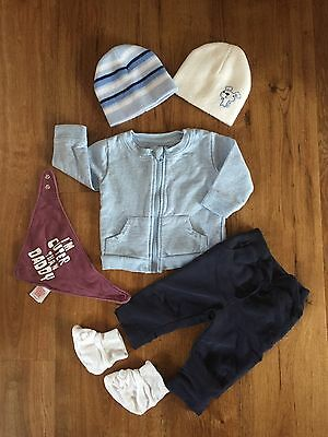 Baby Boys Bundle of Clothes Age 0/3 Months 6 Items