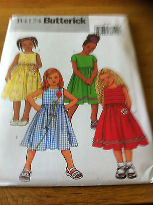 Butterick Girls Dresses paper sewing pattern. New and Uncut 4174 2-5