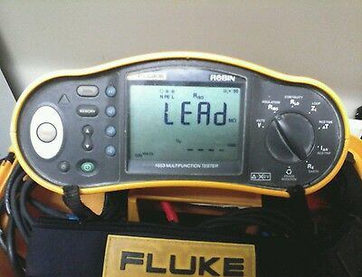FLUKE 1653 MULTIFUNCTION TESTER with protective box & leads