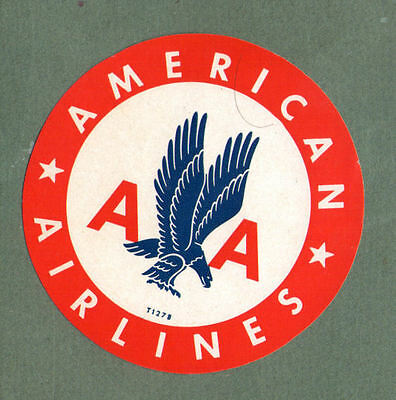 Airline luggage label American Airlines #156