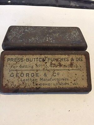 Press Button Punches & Die Box