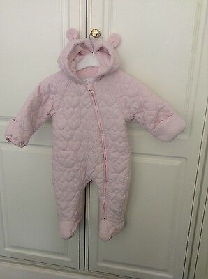 baby girl snowsuit coat. All in one size 3-6 months