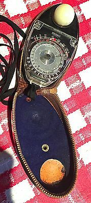Vintage Sekonic Studio Light Meter And Case.