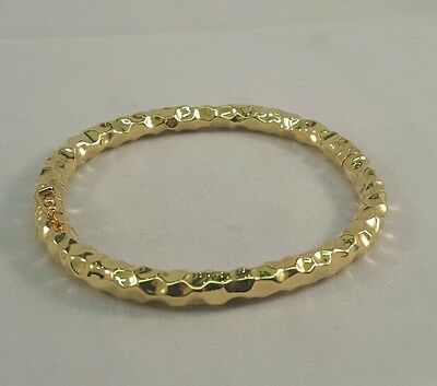 Beautiful 18Ct Gold Patterned  Bangle With Full British Hallmark