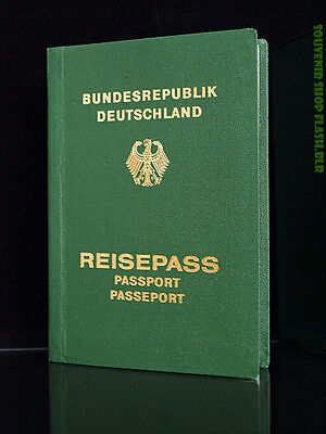1980 Reisepass FRG ID Passport West German Bundesrepuplik Overseas Cover DVKB