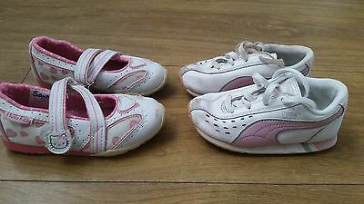 Girls trainers 2x shoes size 6 bundle