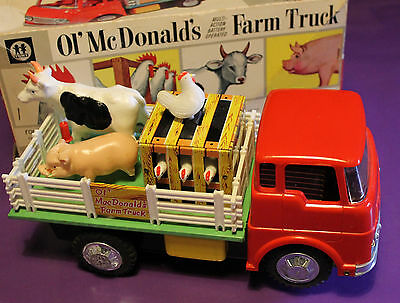 Original BOXED 1960 OL'McDONALDS FARM TRUCK Battery Powered Japanese Made