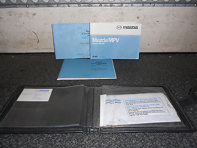 Mazda MPV Owners Hand Books From A 2002 Model