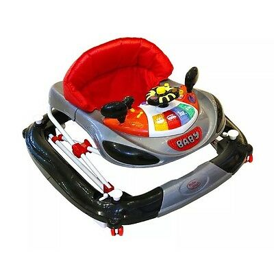 Bebe 2 In 1 Baby Car Walker Rocker Red With Lights And Sounds