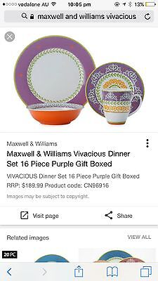 New Vivacious Maxwell And Williams Dinner Set
