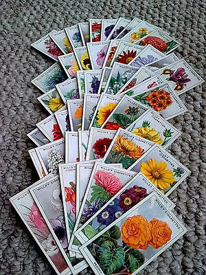 Cigarette Cards - Wills. Garden Flowers. Complete Set of 50.