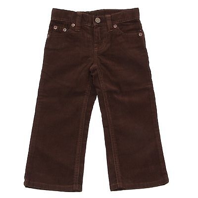 9463R pantalone bimbo POLO BY RALPH LAUREN velluto marrone velvet brown pant kid