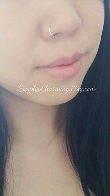 Fake Hoop Nose Ring Faux False Clip On Punk Rock No Piercing Simply Jewelry Nice