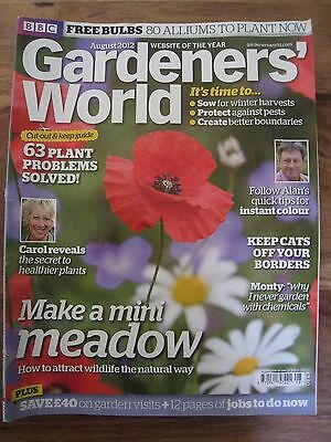 BBC Gardeners World Magazine August 2012: Make a mini Meadow, Plant Pests, Good