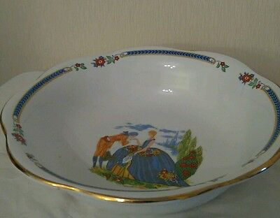 Rare Alma ware dessert serving/trifle bowl lady and gentleman.
