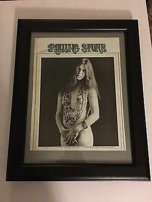 """JANIS JOPLIN 1972 Original & Rare 11X13"""" NUDE Placed In A New 15X19"""" Frame"""