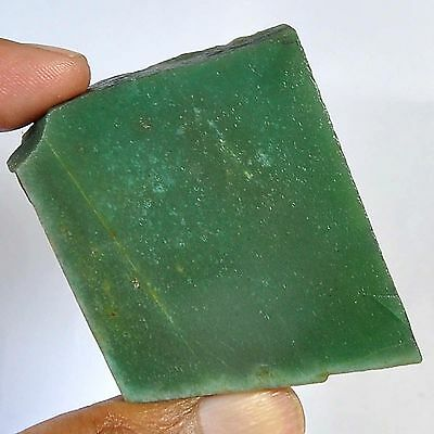 190.30 Cts 100%natural colombian green Nephrite Jede slice rough for gemstone