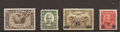 Canada 1930 KGVI SG 310-314 LMM set of 4. Cat £50