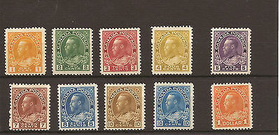 Canada 1922-31 KGVI SG 246-255 LMM set of 10. Cat £130