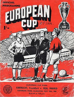 Eintract Frankfurt V Real Madrid European Cup Final At Glasgow  18Th May  1960