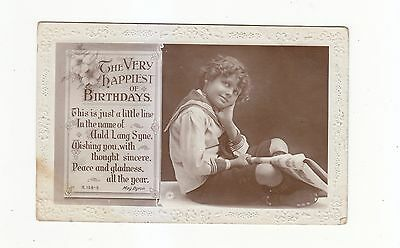 CHARMING POSTCARD OF A BOY IN A SAILOR SUIT ROTARY PHOTOGRAPHIC SERIES No B.159-