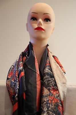 SPORTSCRAFT Iconic Heritage silk square scarf multi in colour new with tag