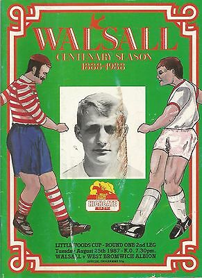 Walsall v West Bromwich Albion, 25 August 1987, League Cup