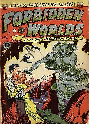 Forbidden Worlds Comic Collection On Dvd 1-117 Includes Viewing Software