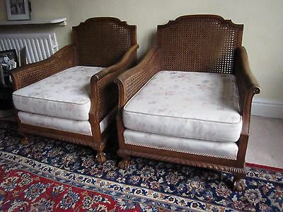 Antique bergere 3x suite, sofa and armchairs, Harrogate