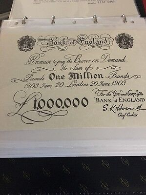 £1 Million Pound White Banknote Limited Edition