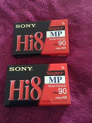 2 New Sony Hi8 Super Mp Pal 90 Camcorder Cassette