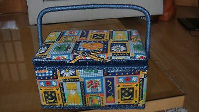 Sewing Basket Box With Handle