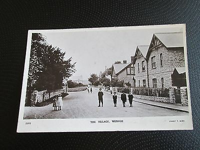 The Village Wenvoe Vale Of Glamorgan Real Photo Postcard Copyright Ernest T Bush