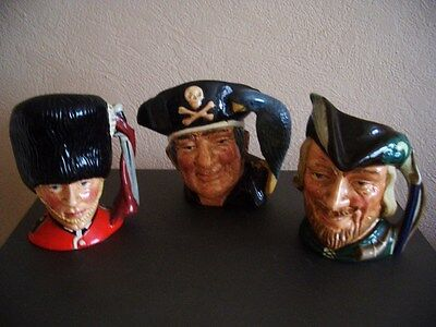 Three Royal Doulton Character Jugs all in Excellent Condition.