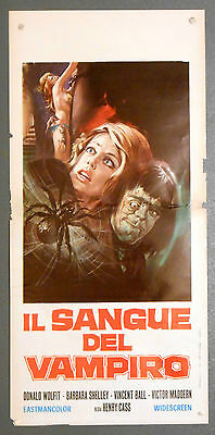 Il Sangue del Vampiro locandina poster Wolfit Shelley horror Blood of Vampire A