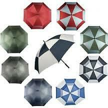 Large Golf Umbrella Double Vented Rain Sun Strong Wind Shield Brolly